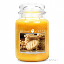 Goose Creek Premium Large Round Scented Candle Jar BUTTER COOKIE Double Wicked